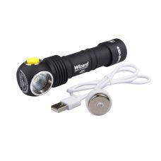 Налобный фонарь Armytek Wizard Magnet USB + 18650 3200 mAh / XP-L