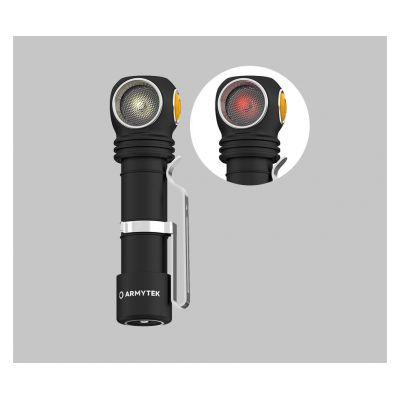 Налобный фонарь Armytek Wizard v4 C2 WR Magnet USB, Тёплый-красный свет