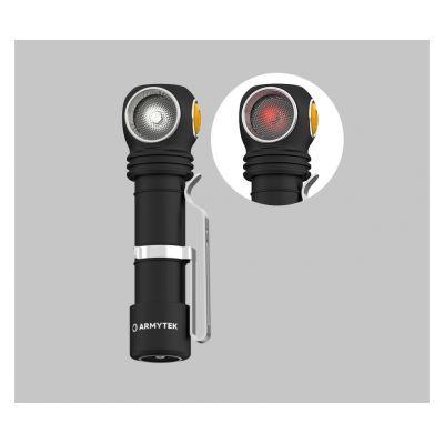 Налобный фонарь Armytek Wizard v4 C2 WR Magnet USB, Белый-красный свет
